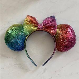 Rainbow Sequin Minnie Ears!